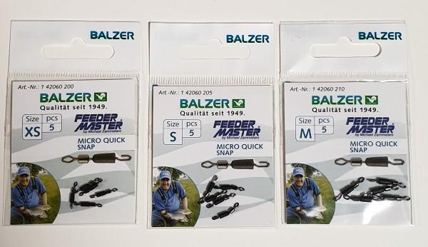 Balzer Feeder Micro Wirbel mit Verschluß Gr. XS S M 5 Stück