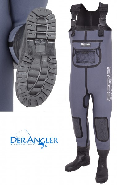5mm Neoprene Chest Wader Rubber Boots #4