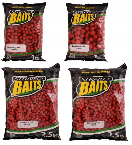 Strategy Baits STRAWBERRY FISH 1kg / 2,5kg 14mm 20mm
