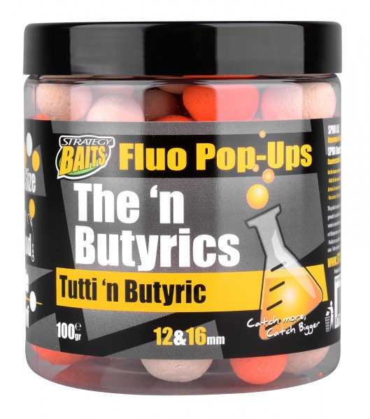 Strategy Baits Pop Ups 12 & 16mm TUTTI'N BUTYRIC 100g