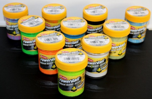 Berkley PowerBait Power Trout Bait Natural Scent Glitter Garlic Knoblauch Float
