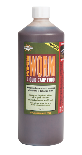 Dynamite Baits Liquid Carp Food 1l Worm Tiger Garlic Robin Red CSL Krill Squid