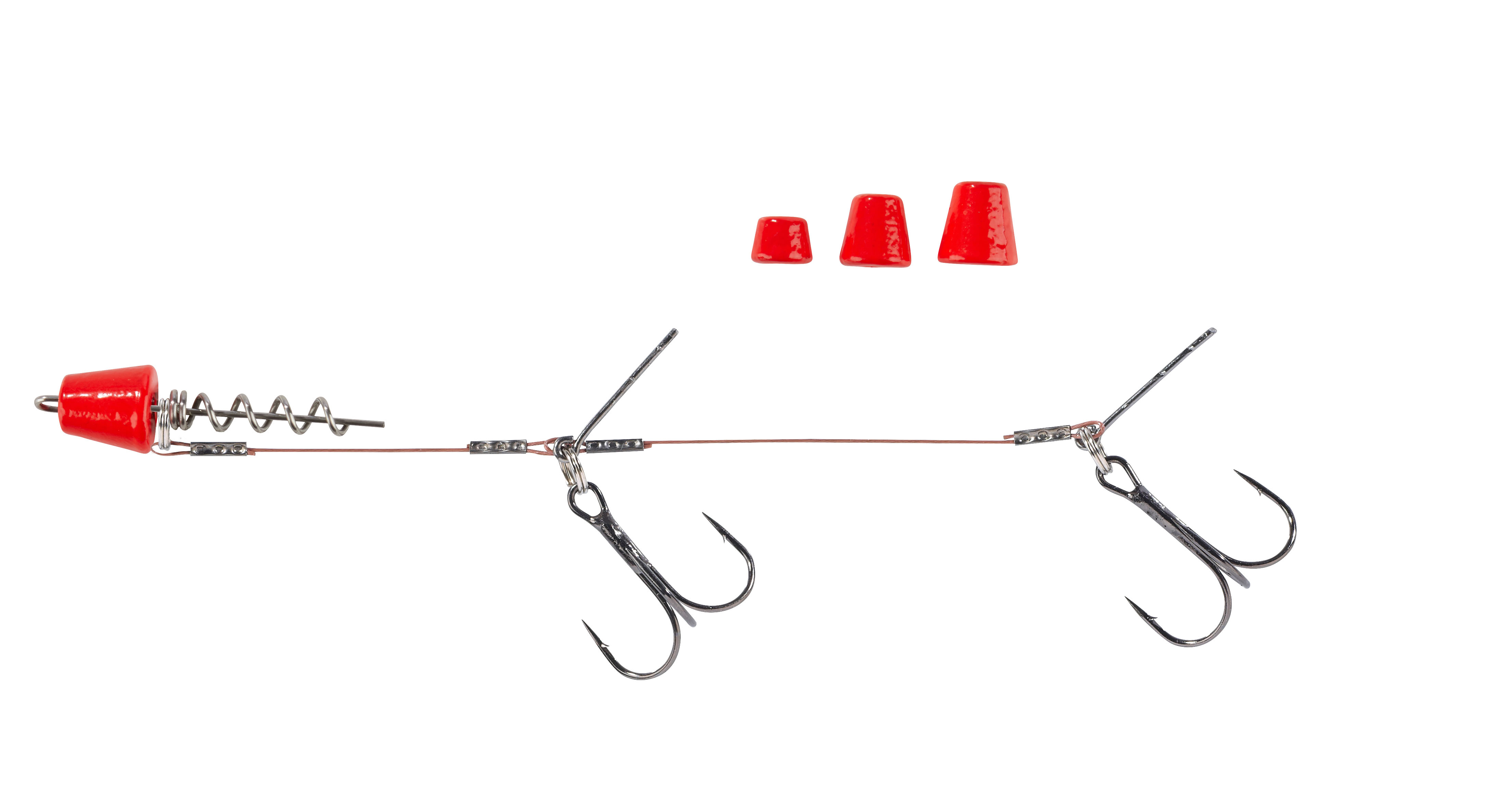 Balzer Shirasu Screw in Hechtsystem Wechselgewichten Fluo-Rot 9cm 14cm UV Activ