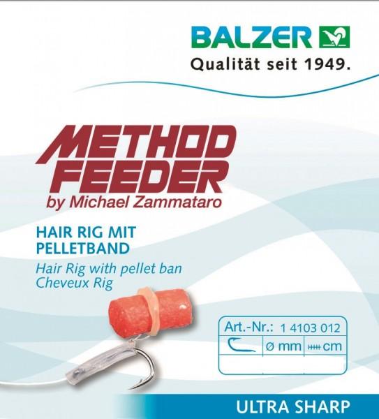 Balzer Method Feeder Hair Rig mit Pelletband
