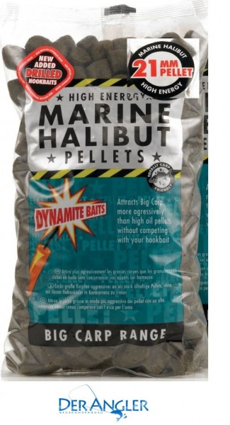Dynamite Baits Marine Halibut Pellets 21mm(Pre-Drilled)