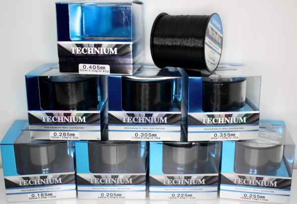 Shimano Technium Black Schwarz Großspule 0,185mm - 0,405mm