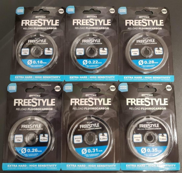 Spro Freestyle Fluorocarbon 0,18 0,22 0,26 0,28 0,31 0,35mm a 15m