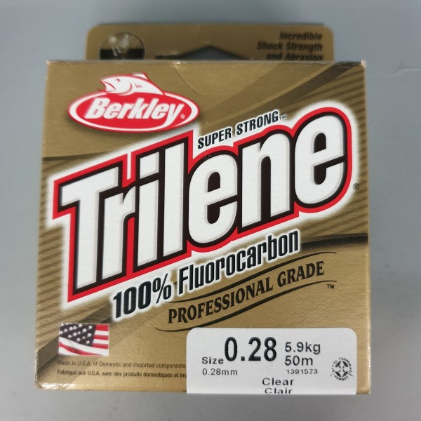Berkley Trilene 100% Fluorocarbon 0,28mm 5,9kg 50m Clear