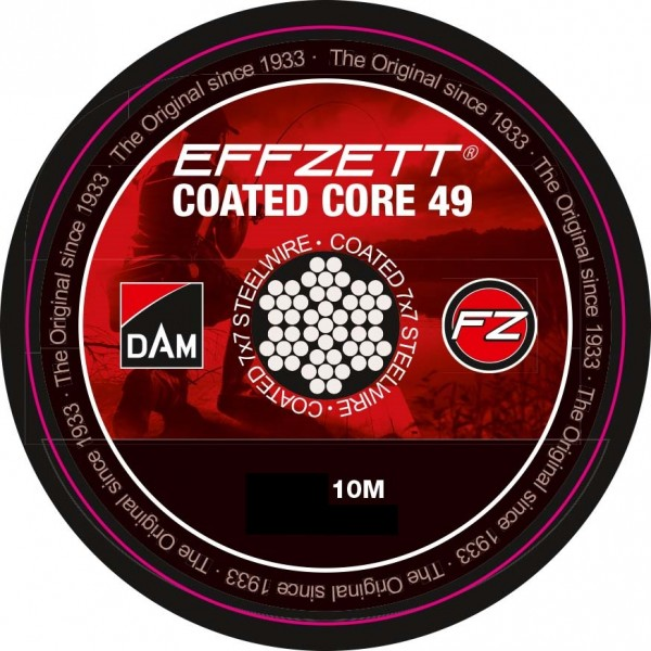DAM Effzett Coated Core 49 Edelstahlvorfach 10m