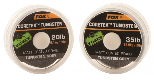 Fox Edges Coretex Tungsten Braid Grey 20m