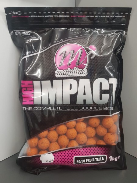 Mainline High Impact Boilies 50/50 fruit Tella 20mm, 1 kg